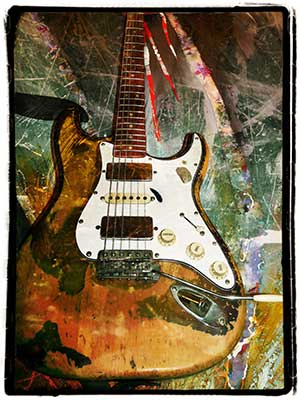 Eric Bell Guitar Print Limited Edition Offer